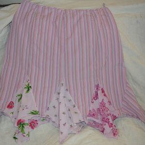 Flirty Hankerchief Knee Length Skirt